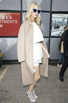 Poppy Delevingne @ London Fashion Week 2014.