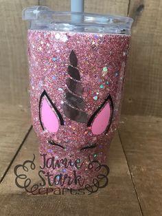 Yeti Cup, Glitter Tumblers, Tumbler Designs, Cup Design, Tumbler Cups, Custom Tumblers, Cute Gifts, Epoxy, Unicorn