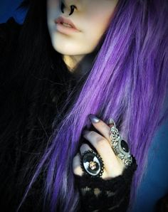 The Everyday Goth Hair Color Purple, Cool Hair Color, Hair Colors, Death Metal, Beauty Makeup, Hair Makeup, Hair Beauty, Everyday Goth, Violet Hair