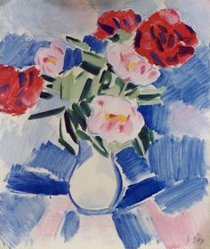 Vaclav Spala - Peonies, oil on canvas Fauvism, Art And Architecture, Flower Art, Still Life, Peonies, Photo Art, Oil On Canvas, Modern Art, Graphic Design