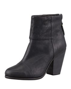 Classic Newbury Leather Bootie by Rag & Bone at Neiman Marcus aka THE LIZZY CAPLAN BACHELORETTE BOOT