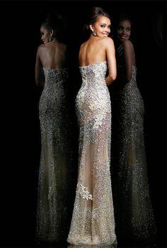 Magníficos vestidos largos de fiesta   Moda 2015