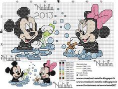 Minnie-e-mickey-Bebês-na-banheira-1120x680 Minnie em Ponto Cruz