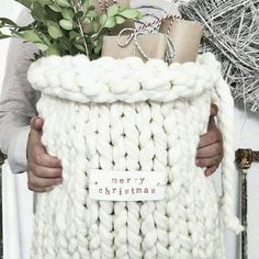 Knitted gift bag?!