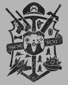 House 64 Crest T-Shirt $10 Nintendo tee at ShirtPunch today only!