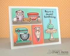Sweet Birthday by Chari moss using Lawn Fawn for the Simon Says stamp Blog.