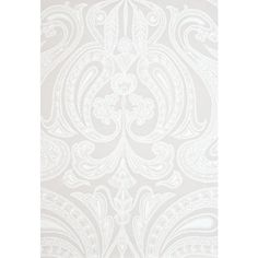 Cole & Son Wallpaper Malabar Wallpaper ($94) ❤ liked on Polyvore featuring home, home decor, wallpaper, stone wallpaper, pattern wallpaper, paisley pattern wallpaper, paisley wallpaper and white wallpaper