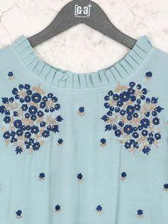 Cotton fabric mint g Collar Kurti Design, Salwar Suit Neck Designs, Kurti Sleeves Design, Kurta Neck Design, Neck Designs For Suits, Sleeves Designs For Dresses, Neckline Designs, Dress Neck Designs, Simple Kurta Designs
