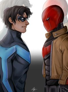 DC - Nightwing Red Hood by MayhWolf on DeviantArt Red Hood, Nightwing, Character Description, Dc Comics, Digital Art, Fan Art, Deviantart, Drawings, Artist