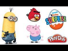 Play Doh Magic surprises Minions Pepa Pig Kinder Surprise Angry Birds Go...