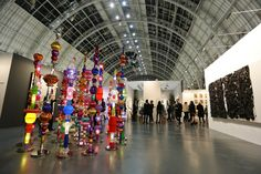 Learning that art doesn't just have to hang on your wall at Art14 London at Olympia Grand.