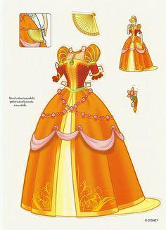 Miss Missy Paper Dolls: Foreign Disney Princess Paper dolls
