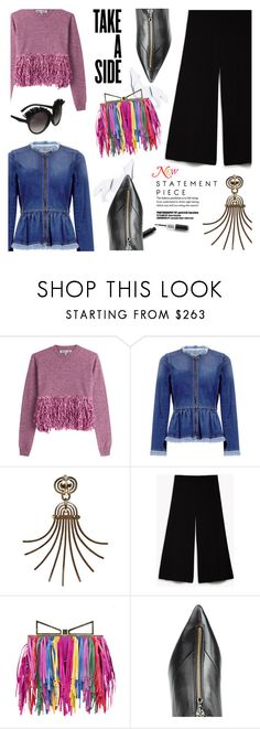 """""""jump the rainbow"""" by malussieversii ❤ liked on Polyvore featuring McQ by Alexander McQueen, Marissa Webb and Sara Battaglia"""