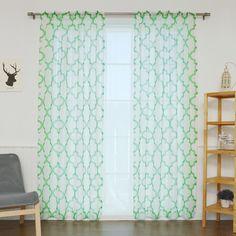 Found it at Joss & Main - Ginny Moroccan Print Sheer Rod Pocket Single Curtain Panel