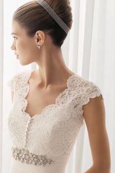 beautiful french lace, my dream wedding dress...