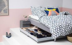 clever shoe storage bed with shoe storage