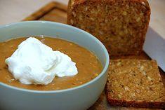 Se her hvordan du laver den bedste øllebrød. Danish Food, Pasta, Mashed Potatoes, Deserts, Curry, Cooking Recipes, Pudding, Bread, Cheese