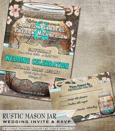 Hey, diesen tollen Etsy-Artikel fand ich bei http://www.etsy.com/listing/123950176/rustic-mason-jar-wedding-invitation-rsvp