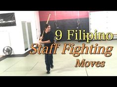 9 Filipino STAFF Fighting Moves - Kali Stick Fighting, Escrima, Arnis Kali Martial Art, Wing Chun Martial Arts, Mixed Martial Arts, Extreme Workouts, Gym Workouts, Kali Sticks, Kali Escrima, Fighting Moves, Stick Fight