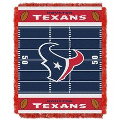 Houston Texans NFL Triple Woven Jacquard Throw (Field Baby Series) (36x48)