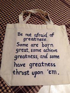 Shakespeare Quote Tote