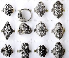 Wholesale lots 20Pcs Mix style Elegant Alloy Rings Vintage Rings for women Cheap Rings Jewelry Free SHipping