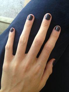 Opi, dark purple looks great on short nails!