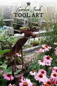 You're going to love this gallery of garden art made from old tools. I love an artist that can see a rusty, old hammer or saw and dream up such wonderful characters.