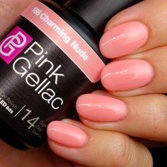 Pink Gellac Color 188 Charming Nude Gel Nail Polish - Lilly is Love Pink Gel Nails, Gel Nail Polish Colors, Orange Nails, White Nails, Polish Nails, Hair And Nails, My Nails, Semi Permanente, American Nails