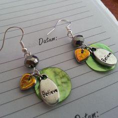 Believe earrings in Rainforest by julietfieldew