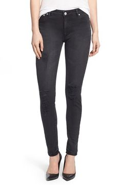 RES Denim 'Kitty' Distressed High Waist Skinny Jeans (Voodoo) available at #Nordstrom