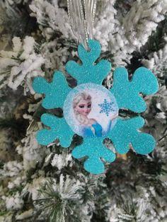 Disney Frozen Elsa Snowflake OrnamentChristmas by NeverGrowUp4Ever