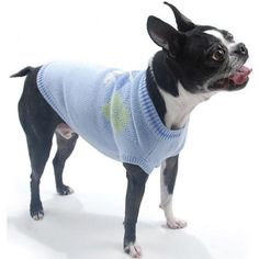 Shop where every purchase helps shelter pets! Oscar Newman Hole in One Sweater - Light Blue - from $64.95
