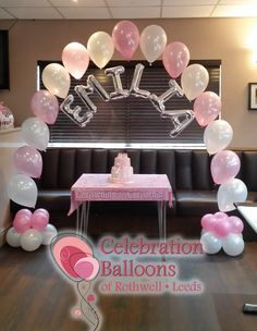 Pretty in pink from www.balloonsleeds.com Baby Balloon, Balloon Arch, The Balloon, Christening Balloons, Balloon Pictures, Celebration Balloons, Wakefield, Decorate Your Room, Vintage Bridal