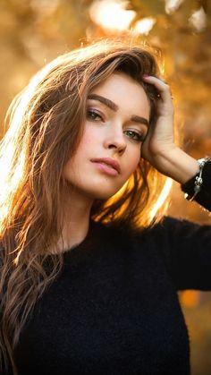 Portrait, girl model, outdoor, autumn, wallpaper Source by