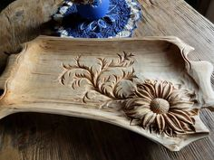 Carved serving platter