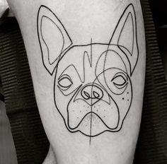 Mo Ganji dog tattoo