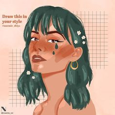 Illustrator - Graphic designer sur Instagram : ✨DRAW THIS IN YOUR STYLE✨ Here is my first #drawthisinyourstyle challenge to celebrate 1k followers ! Thanks for the support I'm so… Instagram Fashion, Followers, Illustrator, Your Style, Challenge, Draw, Graphic Design, Celebrities, Anime