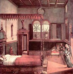"""""""O Sonho de Santa Úrsula"""". = """"Dream of St. Ursula"""". (by Vittore Carpaccio, 1465 - 1525/1526)."""