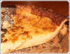 Une recette de tarte au sucre sans croûte! Simple à préparer et vraiment délicieuse!