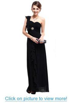 Ever Pretty Padded Ruffles Rhinestones Prom Gown Evening Dress 09503