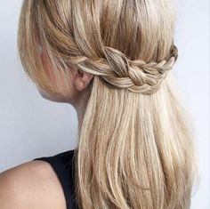 This crown braid is perfect even with straight hair.