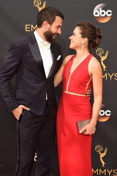 Hollywood Couples Raked In Some Cute Moments at the Emmys Tatiana Maslany and Tom Cullen