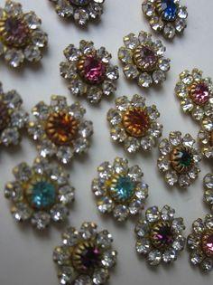 Vintage Swarovski  Flower  Crystal Finding
