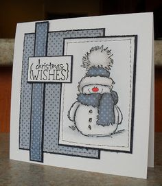 Helen's Craft Haven…: ABC Christmas Challenge – H & I are for? Helen's Craft Haven…: ABC Christmas Challenge – H & I are for? Christmas Card Crafts, Homemade Christmas Cards, Christmas Cards To Make, Homemade Cards, Handmade Christmas, Christmas Snowman, Xmas Cards Handmade, Stamped Christmas Cards, Holiday Crafts