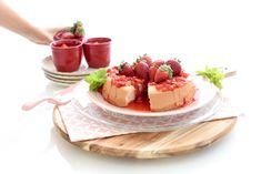Angel Food Cake con fresas