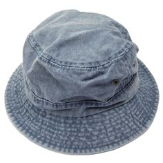 "Traditional cotton bucket hat - fishing hat. 2"" wide stitched, bound brim. Two metal eyelets on both sides. 100% cotton."