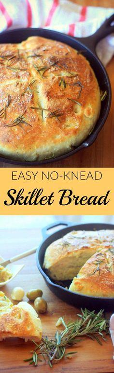 Easy No-Knead Skillet Bread