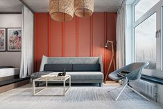 Tiny Apartment Design - How to do wonders with 24 sq m! Small Apartment Interior, Small Apartment Design, Small House Design, Small Apartments, Small Spaces, Living Room Red, Wicker Furniture, Wicker Dresser, Wicker Couch