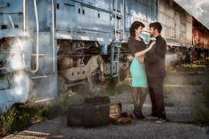 KRESTA LEIGH PORTRAIT COUTURE | international destination wedding photographer  Location: Ogden Train Station, Utah  Photographer: Kresta Leigh #utahweddingphotographer #engagement #destinationphotographer